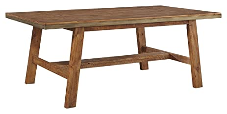 Urban Industrial Furniture In Ashley Furniture Signature Design Dondie Dining Room Table Urban Industrial Warm Brown Amazoncom