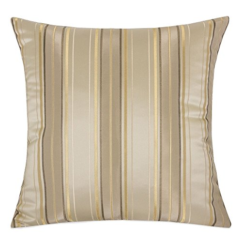Homey Cozy Satin Throw Pillow Cover,Silk Maze Series Gold Striped Large Sofa Couch Cushion Decor ...