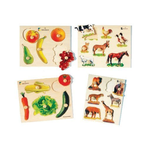 Wood Photo Knobbed Puzzles for Kids ()