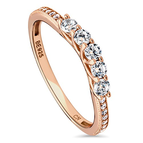 BERRICLE Rose Gold Plated Ster