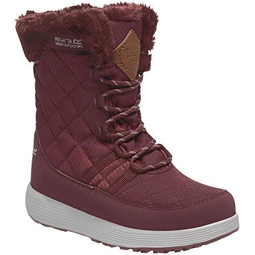 Fabric amp; Boys Burgundy Regatta Lightweight Quilted Girls Boots Medley Fashion qRCxUC