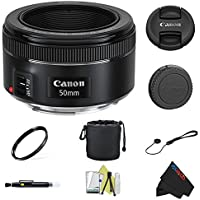 Canon EF 50mm f/1.8 STM Lens + Pixi-Basic Accessory Bundle Noticeable Review Image