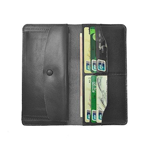 Volcanic Rock Oil Wax Cowhide Leather Bifold Wallet Vintage Ultrathin Genuine Leather Purse - Wallet Travel Cowhide