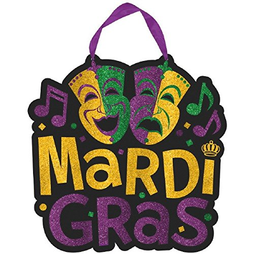 Mardi Gras Party Sign, 11.5
