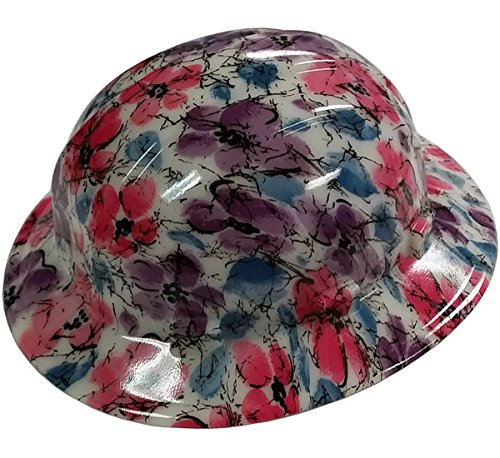Texas America Safety Company Flower Full Brim Style Hydro Dipped Hard Hat - Glow in the Dark
