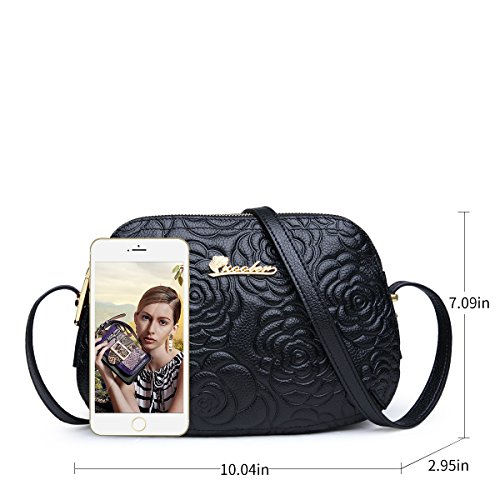 Stylish Purses ZOOLER Crossbody for Zipper Leather Handbags Genuine Ladies Pocket and Shoulder Black Bags xXrXwvAq
