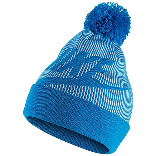 Nike Ribbed Beanie - Nike Womens Ribbed Knit Removable Pom Beanie Hat Blue O/S
