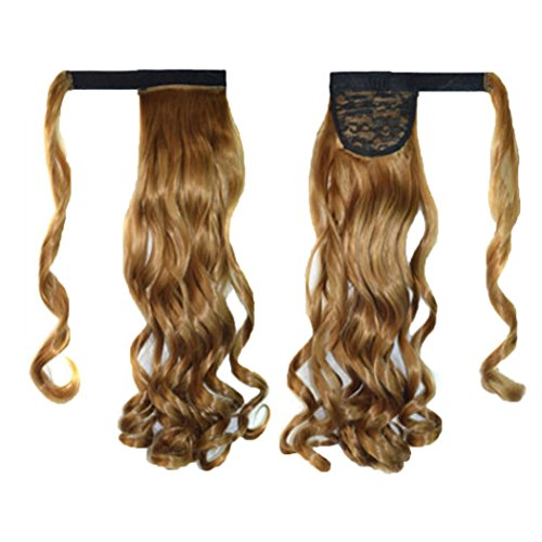 [DEESEE(TM) New Clip In Human Hair Extension Curly Pony Tail Wrap Around Ponytail wig (G)] (Making Waves Sailor Costume)
