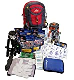 4 Person Deluxe Family Emergency Survival Bag/Kit - Equipped with 72 hrs of Food, Water & Shelter - Disaster Preparedness Supplies - Bug Out Bag for Earthquake, Hurricane, Fire, Flood -