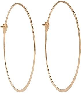 product image for Melissa Joy Manning 14-Karat Gold 1.75 Inch Round Hoops