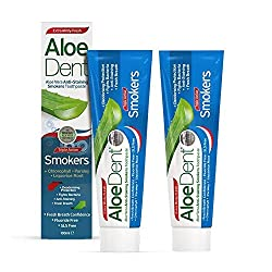 AloeDent Triple Action Anti-Staining Smokers Toothpaste 100ml (Pack of 2)