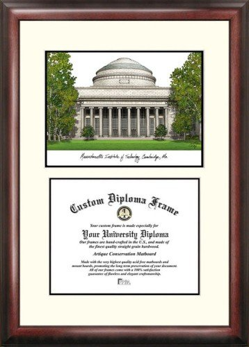 Massachusetts Institute of Technology Scholar Framed Lithograph with Diploma by Landmark Publishing