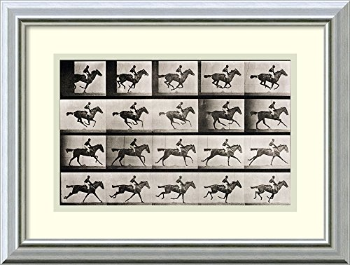 Framed Art Print 'Jockey on a galloping horse, plate 627 fro