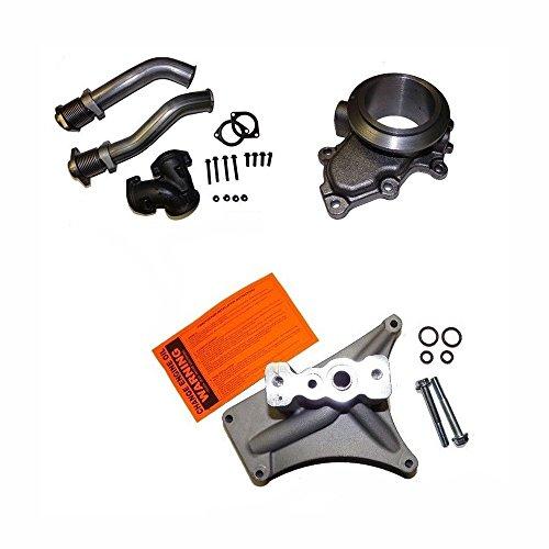 Ford 7.3L Powerstroke Turbo Kit Pedestal, Exhaust Housing, & Up pipes (Turbo Housing)