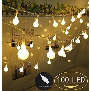 100 led globe string lights ball christmas lights indoor outdoor decorative light - Usb Powered Christmas Lights