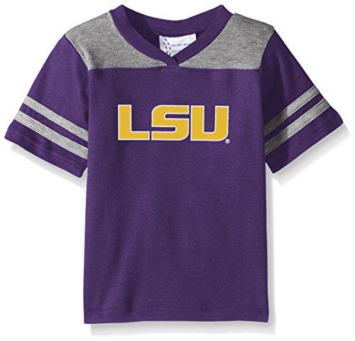 - Two Feet Ahead NCAA Lsu Tigers Toddler Boys Football Shirt, Purple, 3