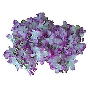 Vine Garland - Fjs Wedding Home Decor Artificial Fake Azalea Flower Vine Plants Garland 2m Purple - Accessories Home Stencil Seeds Support Invitation Blue Sticker Flower Vines Leaf Crown La 67