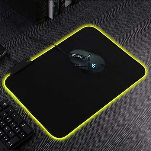 Size:300 x 250 x 4mm AFANG MONTIAN Colorful LED Light Thickening Lock Keyboard Pad Game Mouse Pad