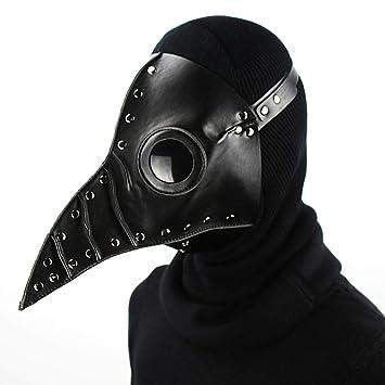 Máscara de Halloween Plaga Doctor Adulto Cosplay Props Punk PU Máscara de cuero Vestido de fiesta