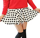Meriling Womens Ladies Basic Versatile Pleated Flared Skater Skirt-Polka Dot