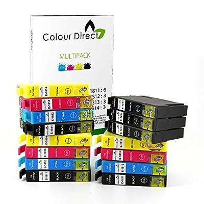 15 XL Alta Capacidad ColourDirect Compatible Cartuchos de Tinta Para Epson Expression Home XP102, XP202, XP212, XP215, XP205, XP30, XP302, XP305, XP312, XP315 XP402, XP412, XP415, XP405 XP405WH Impresoras 6 Negro 3 Cian 3 Mag