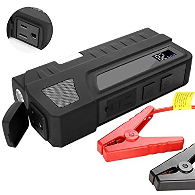NEXGADGET Portable Car Jump Starter 1000A Peak 20000mAh Booster with AC Output (up to 6.0L Gas, 3.0L Diesel Engine) Power Bank with Smart Charging Port, Built-in LED Light