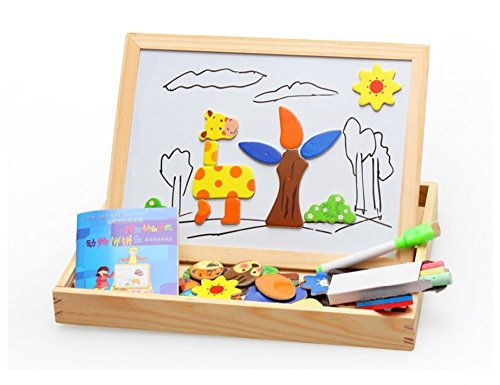 2016 Costume Drama (Angelwing Magnetic Drawing Board Wooden Multifunction Children Animal Puzzle Learning)