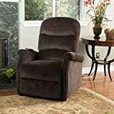Alan Chocolate Fabric Lift Up Recliner Chair
