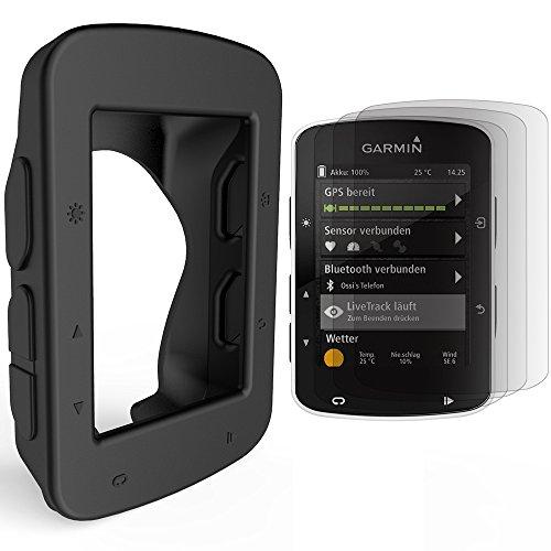 TUSITA Replacement Silicone Case Cover For Garmin Edge 520 GPS Bike Computer (Black)