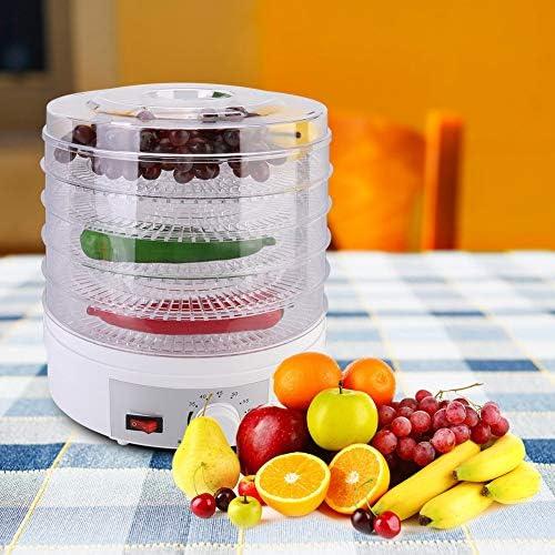 Essiccatore Disidratatore per Alimenti 15L 5 Ripiani 350W, Essiccatore Frutta e Verdura Essiccatore Elettrico per Carne, Frutta e Verdura, Temperatura Regolabile 35-70℃