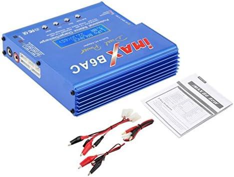 Azul 80W iMAX B6AC 100V-240V Lipo NiMH 3S RC Batería de litio Balance Cargador Pantalla LCD digital RC Hobby (Color: azul)