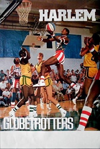 Harlem Globetrotters - 1986 - Póster de - Balón de baloncesto de ...