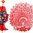 Creative Beautiful Hollow Chinese Art / Chinese Paper Cut Decoration / Peacock