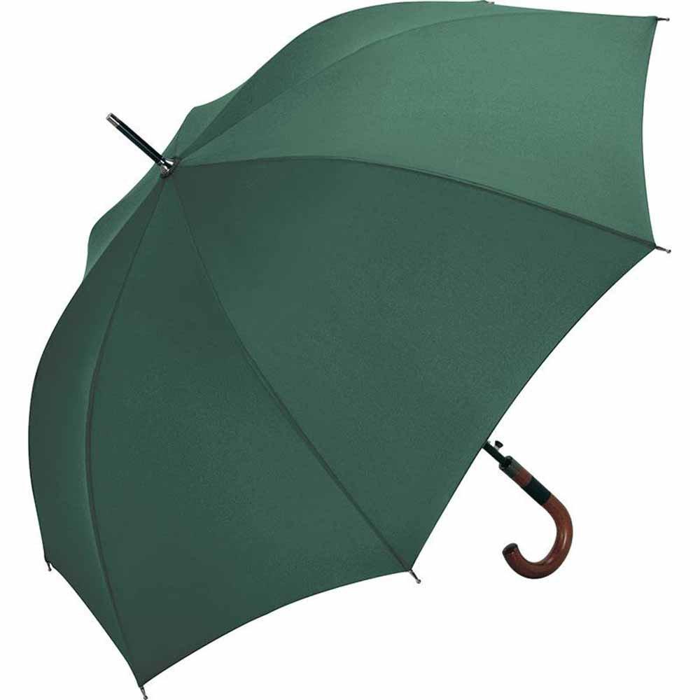 Fare - Parapluie standard 115 cm - ref 4132 - poignée canne bois - VERT - WINDPROOF - ouverture automatique