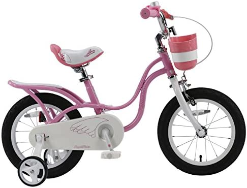 RoyalBaby Little Swan, Girl s Bike with Basket, Pink White