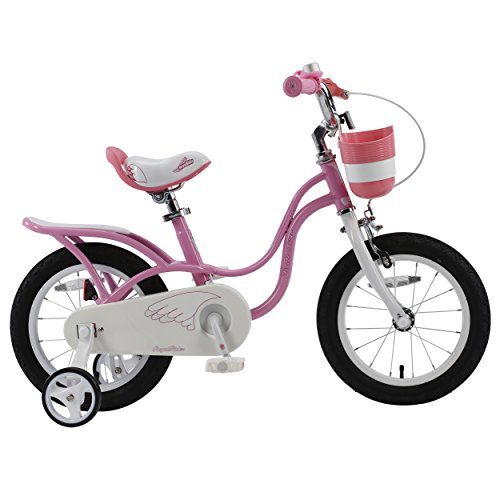 RoyalBaby Little Swan Elegant Girl's Bike, 14-16-18 inch wheels, Pink and White
