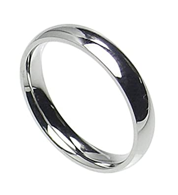 4mm Stainless Steel Comfort Fit Plain Wedding Band Ring Size 4 12 Comes With