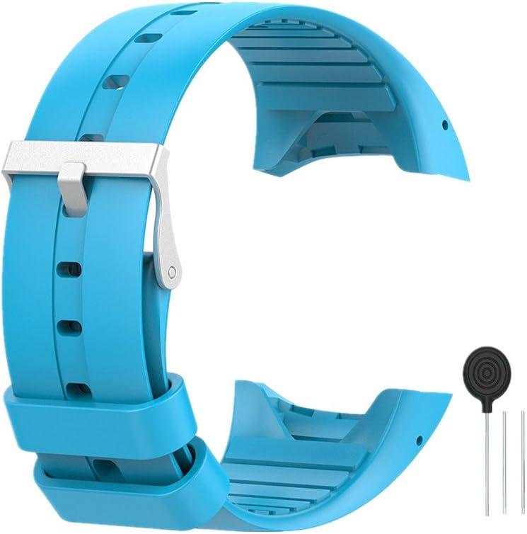 WEINISITE Silicona Ajustable Reemplazo Pulsera Para Polar M400/M430 GPS reloj
