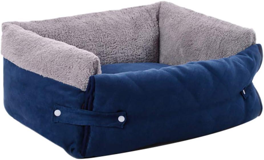 FREESOO-Panier-Lit-pour-Chien-Chat-3-en-1-Super-Doux-Confortable-M-M-Bleu