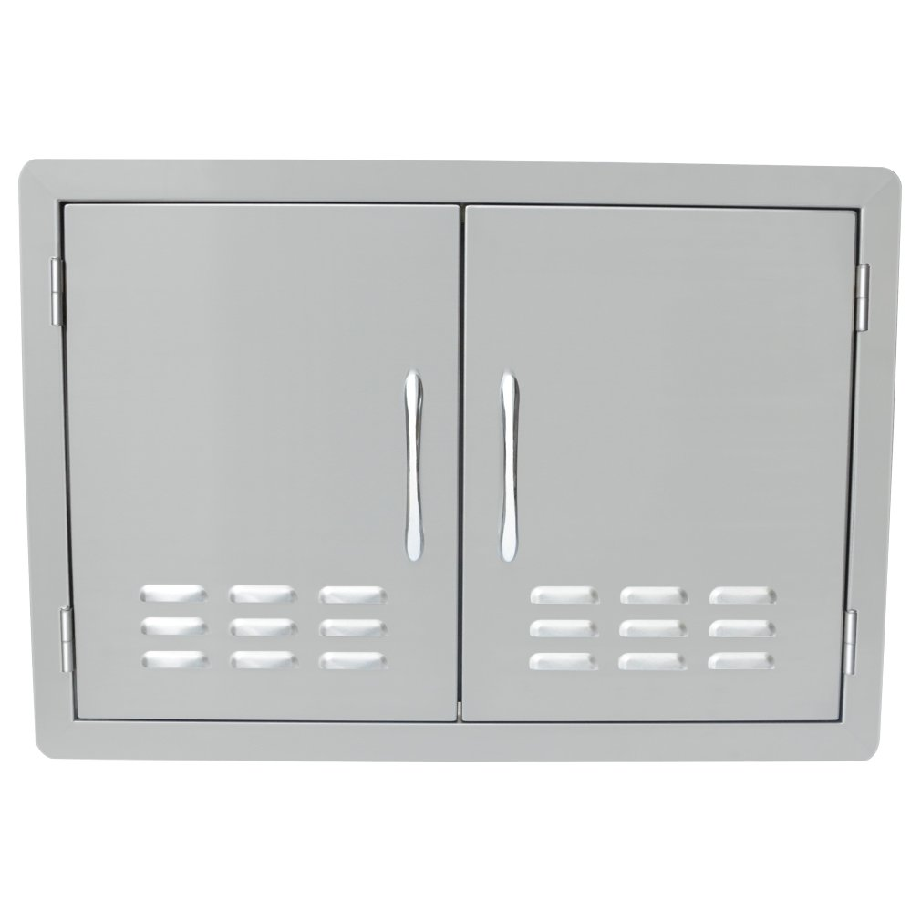 Stanbroil Outdoor Kitchen Stainless Steel Double Access Door with Vents, 30 Inches