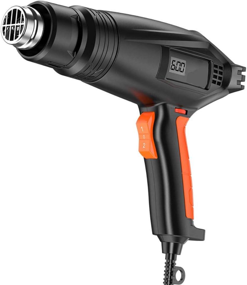 XIONGDA Pantalla Digital Portátil Pistola De Aire Caliente, con Dos Modos De Temperatura, Pistola De Fusión En Caliente De Alta Potencia 2000W, Adecuada para La Eliminación De Automóviles Y Pinturas