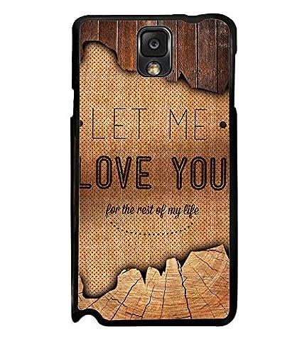 Fuson Let Me Love You Quote Designer Back Case Cover Amazonin