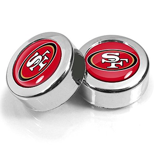 Two Officially Licensed NFL License Plate Screw Caps - San Francisco 49ers