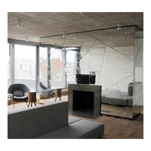 "EzFaux Décor Mirror Adhesive Wall Film, 36"" W x 72"" L"