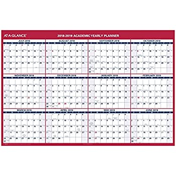 at a glance 2018 2019 academic year wall calendar x large