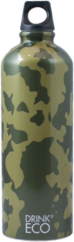 Alusport Bottles Drink Eco Camouflage Botella Deportiva, Unisex Adulto, Multicolor, L