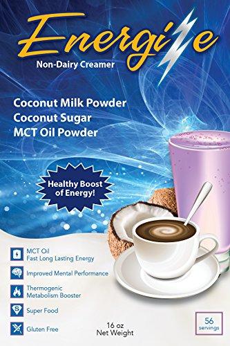 Waken Non-Dairy Coffee Creamer, MCT Oil Powder, Coconut Milk Powder, Coconut Sugar, 16 Ounce, 56 Servings (Non Dairy Euphonic)