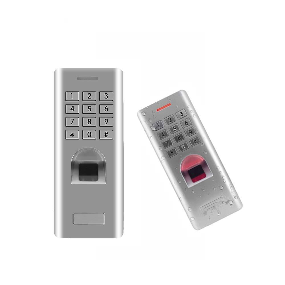 sin funci/ón RFID XISAY-Smat Lector de control de acceso de teclado de huella dactilar independiente para el control de acceso de abridor de puerta con cerradura de puerta