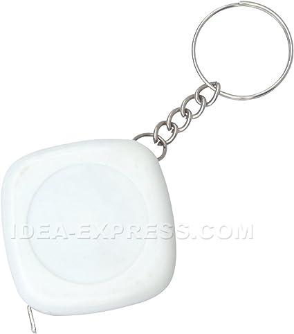 Amazon.com : White Square Tape Measure Keychain (Qty. 50 ...