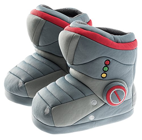 Robot Heart Costumes - Trimfit Boys Robot Boot Slippers Moccasin,
